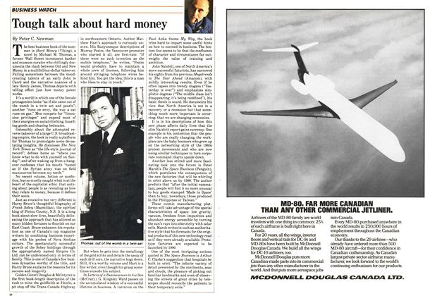 Article Preview: Tough talk about hard money, July 1985 | Maclean's