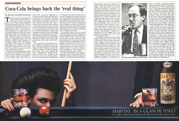 Article Preview: Coca-Cola brings back the 'real thing', July 1985 | Maclean's