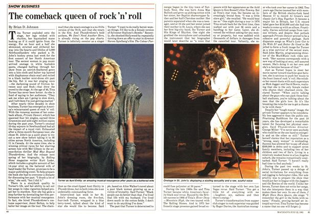 Article Preview: The comeback queen of rock 'n' roll, July 1985 | Maclean's