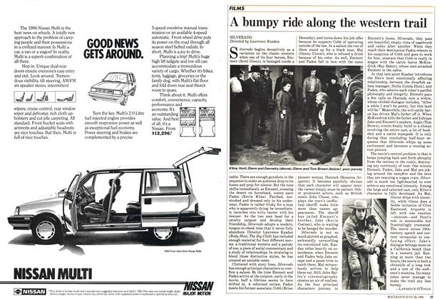Article Preview: A bumpy ride along the western trail, July 1985 | Maclean's