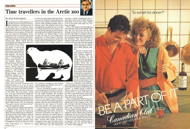Article Preview: Time travellers in the Arctic zoo, July 1985 | Maclean's