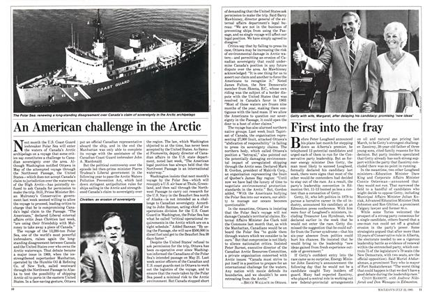 Article Preview: An American challenge in the Arctic, July 1985 | Maclean's