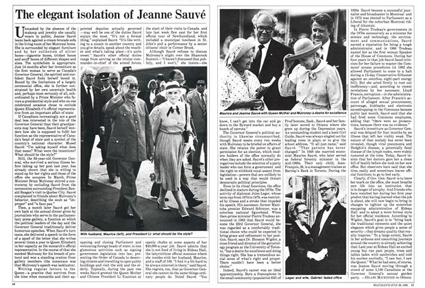 Article Preview: The elegant isolation of Jeanne Sauvé, July 1985 | Maclean's