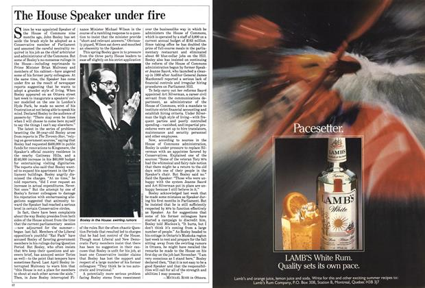 Article Preview: The House Speaker under fire, July 1985 | Maclean's