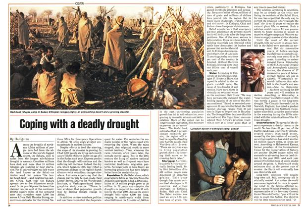 Article Preview: Coping with a deadly drought, July 1985 | Maclean's