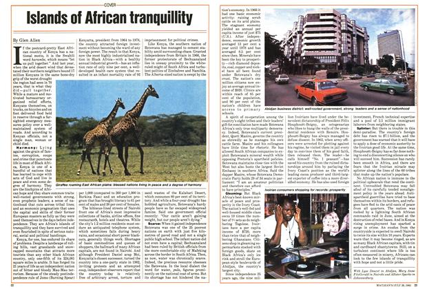 Article Preview: Islands of African tranquillity, July 1985 | Maclean's