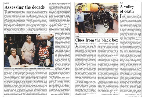 Article Preview: Clues from the black box, July 1985 | Maclean's