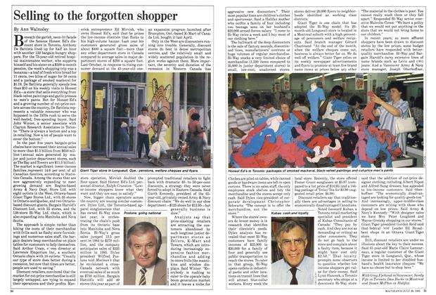 Article Preview: Selling to the forgotten shopper, July 1985 | Maclean's