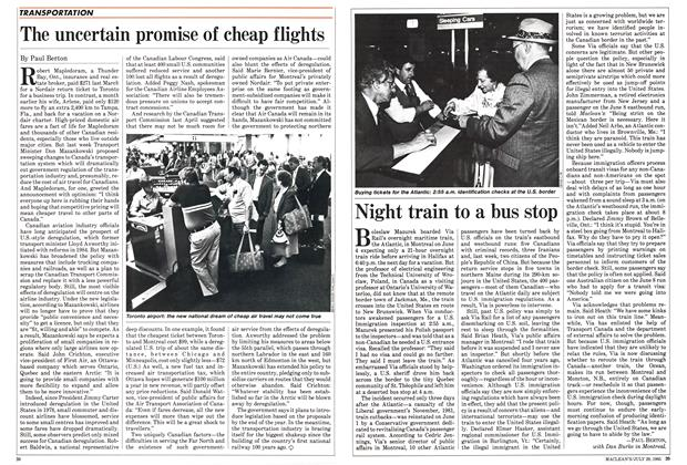 Article Preview: Night train to a bus stop, July 1985 | Maclean's