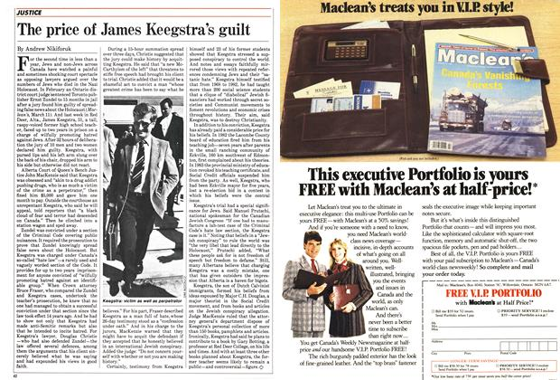 Article Preview: The price of James Keegstra's guilt, July 1985 | Maclean's