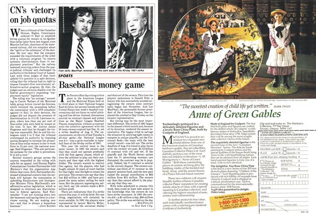 Article Preview: Baseball's money game, July 1985 | Maclean's