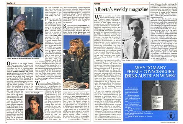 Article Preview: Alberta's weekly magazine, July 1985 | Maclean's