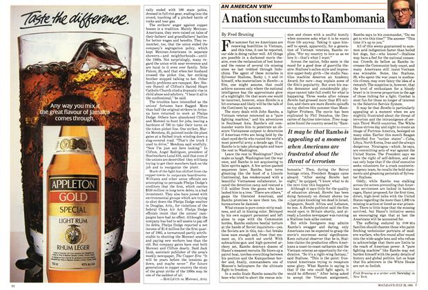 Article Preview: A nation succumbs to Rambomania, July 1985 | Maclean's