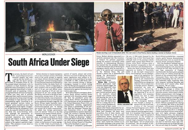 Article Preview: South Africa Under Siege, August 1985 | Maclean's