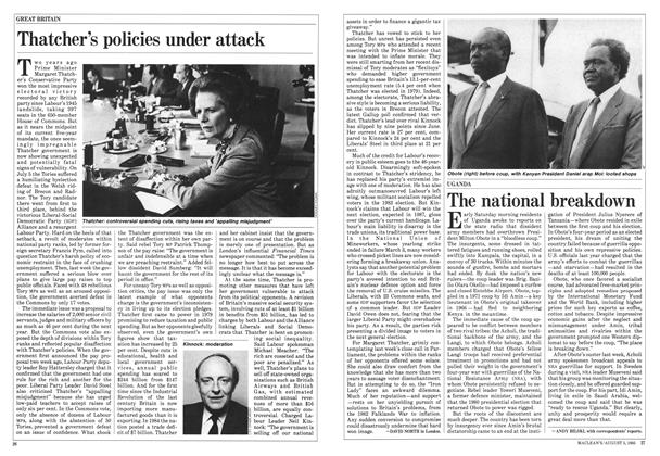 Article Preview: The national breakdown, August 1985 | Maclean's