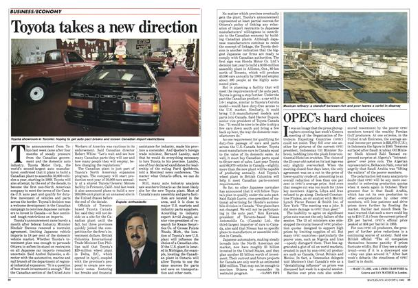 Article Preview: Toyota takes a new direction, August 1985 | Maclean's