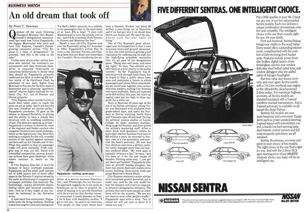 Article Preview: An old dream that took off, August 1985 | Maclean's