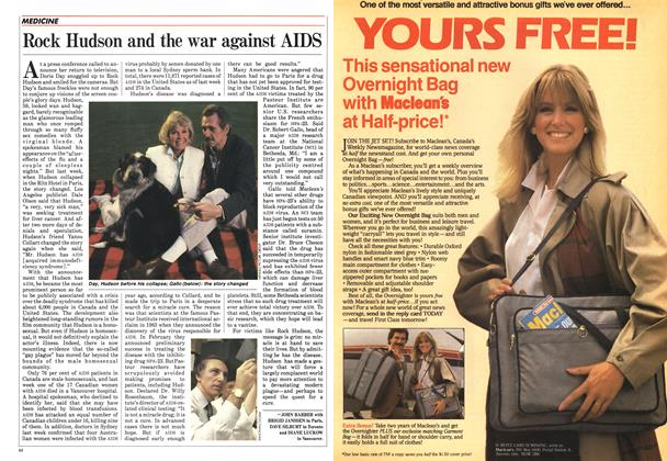 Article Preview: Rock Hudson and the war against AIDS, August 1985 | Maclean's