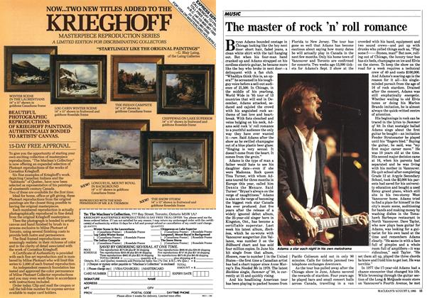 Article Preview: The master of rock 'n' roll romance, August 1985 | Maclean's