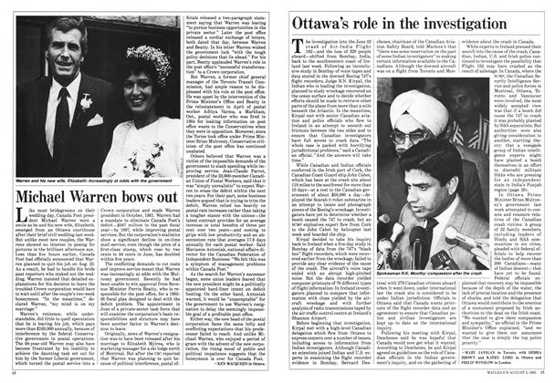 Article Preview: Ottawa's role in the investigation, August 1985 | Maclean's