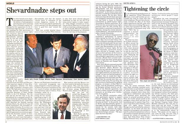 Article Preview: Shevardnadze steps out, August 1985 | Maclean's