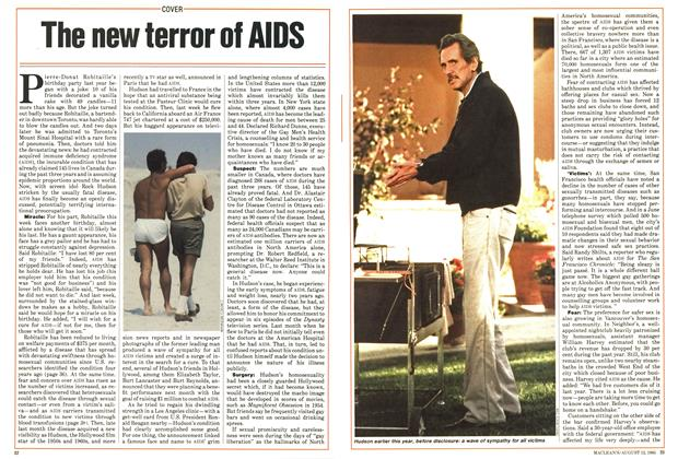 Article Preview: The new terror of AIDS, August 1985 | Maclean's