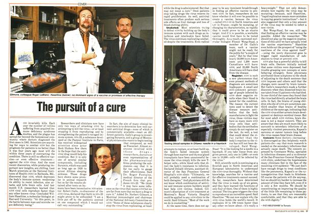 Article Preview: The pursuit of a cure, August 1985 | Maclean's