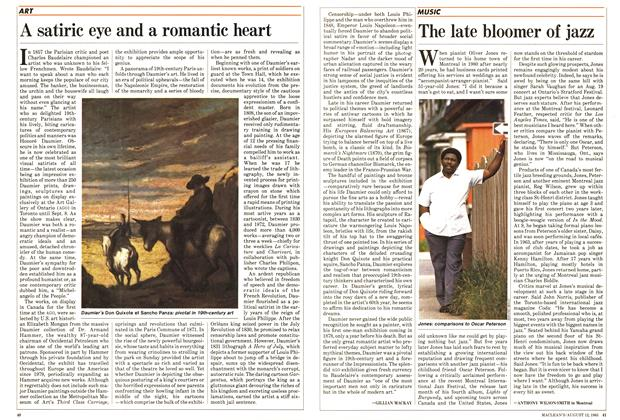 Article Preview: A satiric eye and a romantic heart, August 1985 | Maclean's