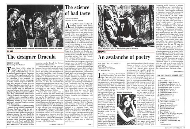 Article Preview: An avalanche of poetry, August 1985 | Maclean's