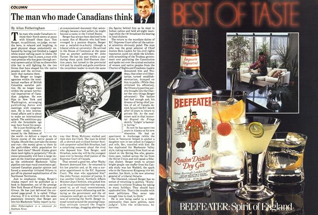 Article Preview: The man who made Canadians think, August 1985 | Maclean's