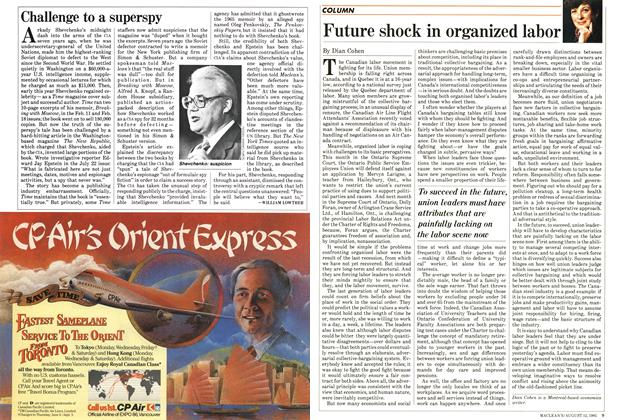 Article Preview: Challenge to a superspy, August 1985 | Maclean's