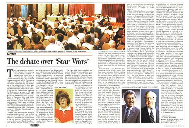 Article Preview: The debate over 'Star Wars', August 1985 | Maclean's