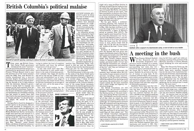 Article Preview: British Columbia's political malaise, August 1985 | Maclean's