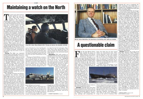 Article Preview: A questionable claim, August 1985 | Maclean's