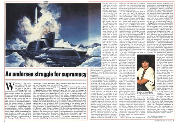 Article Preview: An undersea struggle for supremacy, August 1985 | Maclean's