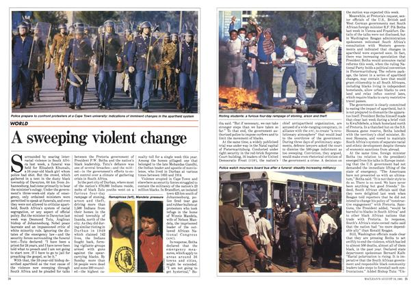 Article Preview: A sweeping violent change, August 1985 | Maclean's