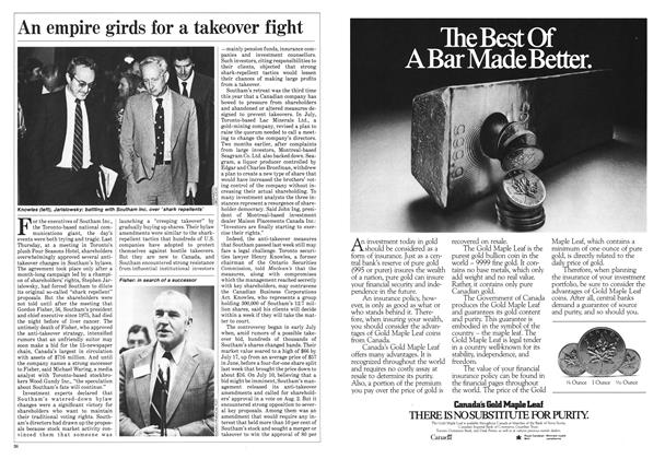 Article Preview: An empire girds for a takeover fight, August 1985 | Maclean's