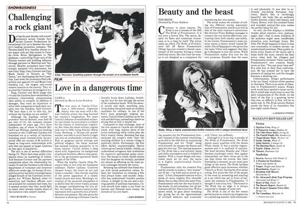 Article Preview: Beauty and the beast, August 1985 | Maclean's