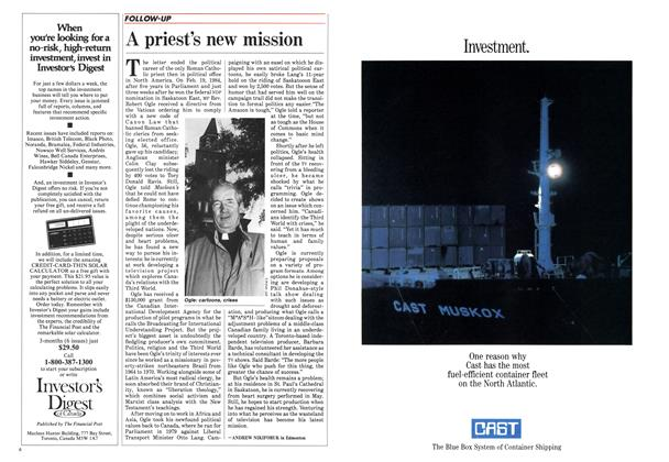 Article Preview: A priest's new mission, August 1985 | Maclean's