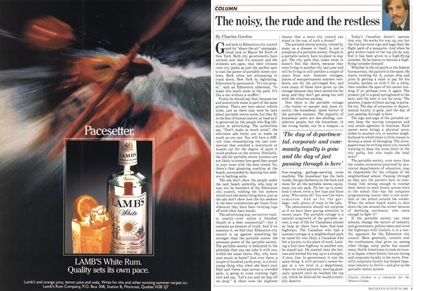 Article Preview: The noisy, the rude and the restless, August 1985 | Maclean's
