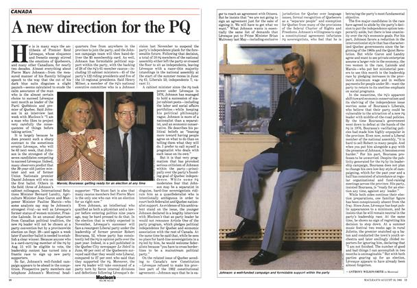 Article Preview: A new direction for the PQ, August 1985 | Maclean's