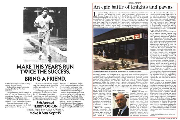Article Preview: An epic battle of knights and pawns, August 1985 | Maclean's