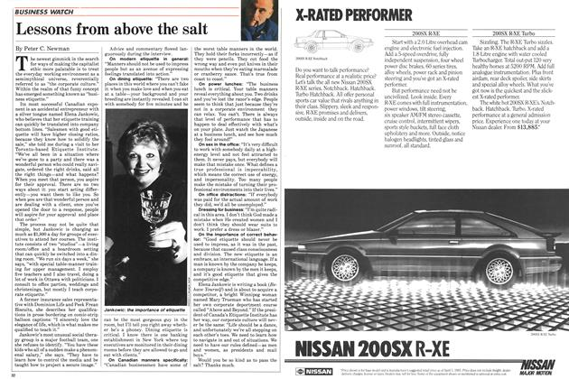 Article Preview: Lessons from above the salt, August 1985   Maclean's