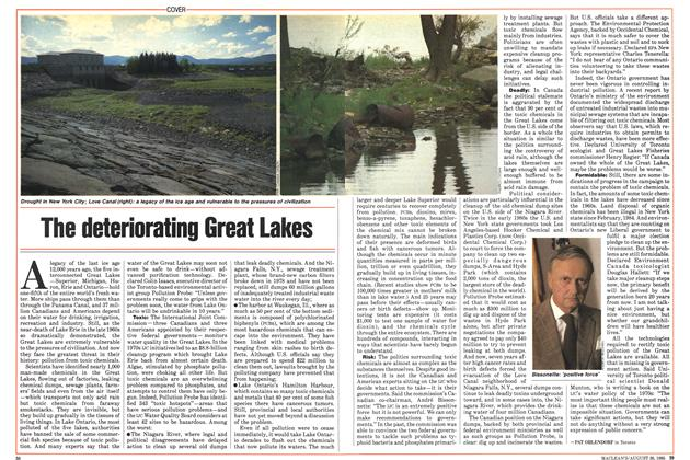 Article Preview: The deteriorating Great Lakes, August 1985   Maclean's