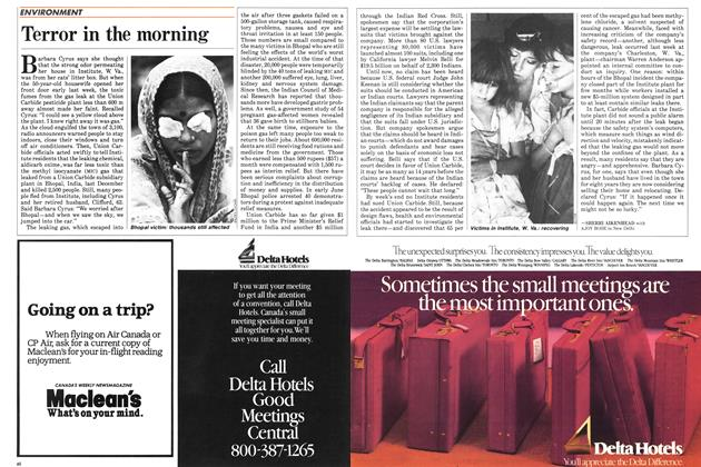Article Preview: Terror in the morning, August 1985 | Maclean's