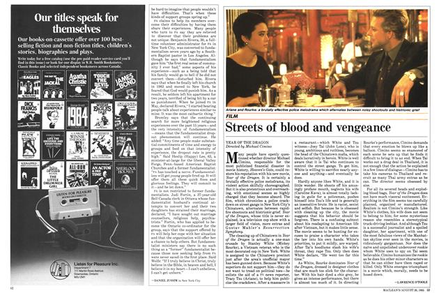 Article Preview: Streets of blood and vengeance, August 1985 | Maclean's