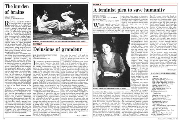 Article Preview: A feminist plea to save humanity, August 1985 | Maclean's