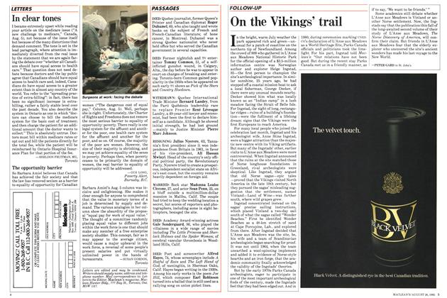 Article Preview: On the Vikings' trail, August 1985 | Maclean's