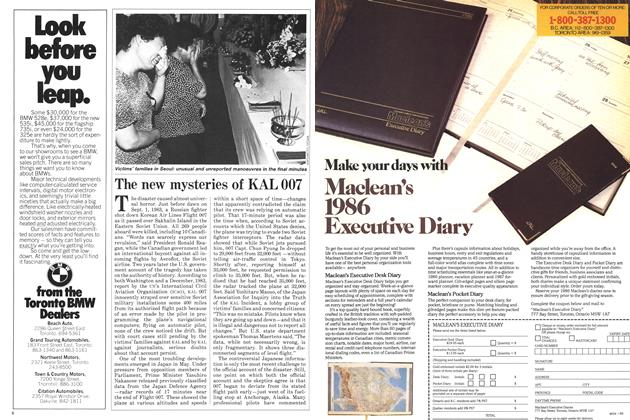 Article Preview: The new mysteries of KAL 007, August 1985 | Maclean's