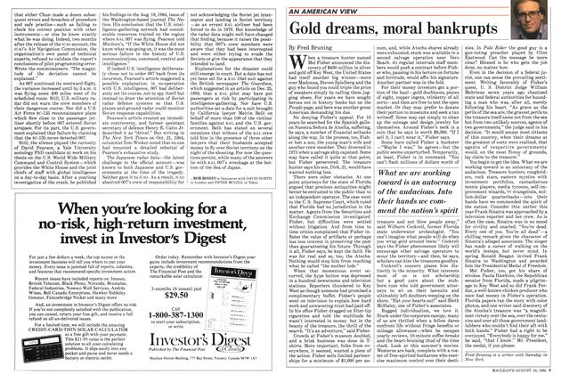 Article Preview: Gold dreams, moral bankrupts, August 1985 | Maclean's